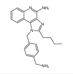 1-(4-(aminomethyl)benzyl)-2-butyl-1H-imidazo[4,5-c]quinolin-4-ylamine